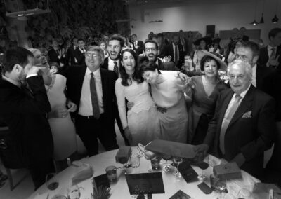 Reportaje boda Ainhoa Foto blanco y negro Grupo