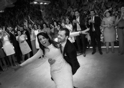 Foto en blanco y negro - Baile en boda Málaga - Fotógrafo Carlos Lancha